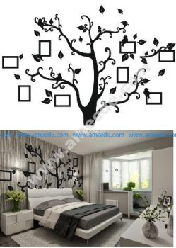 Tree Photo frame Free Vector