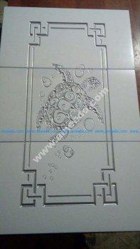 Cabinet Door Turtle Engraved