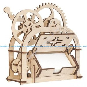 Card holder Mechanical 3D wooden puzzle Box 4 Mm
