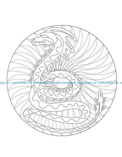 Gratuit mandala dragon 2