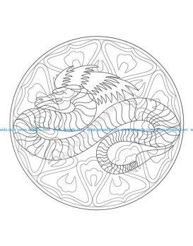 Gratuit mandala dragon 4