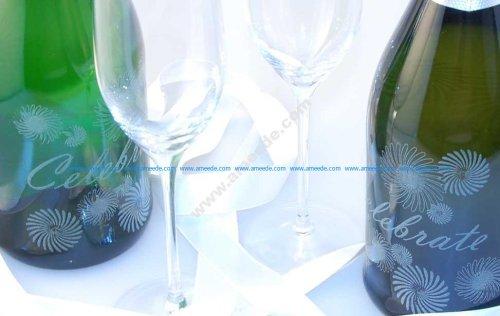 Laser Engraving Champagne Bottles