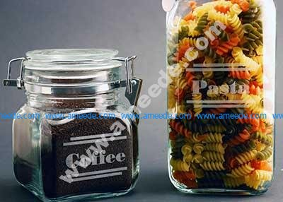 Laser Engraving Glass Canisters