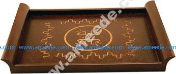 Mahongany Serving Tray Engraving