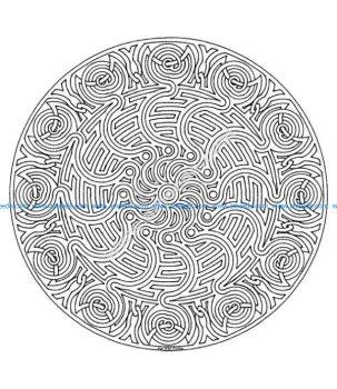 Mandala a colorier difficile 15
