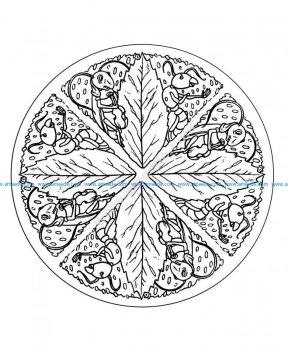 Mandala a colorier difficile 31