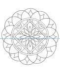 Mandala a colorier facile enfant 16