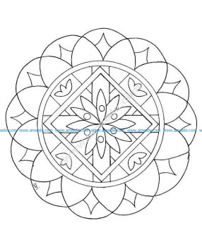 Mandala a colorier facile enfant 16