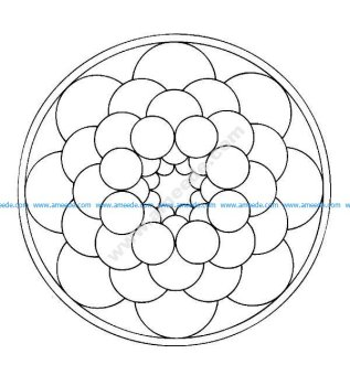 Mandala a colorier facile enfant 19
