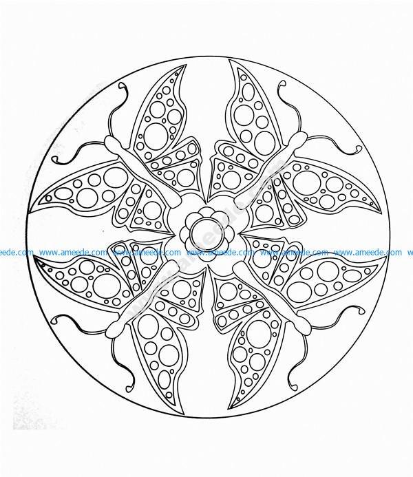Mandala a colorier facile enfant 4