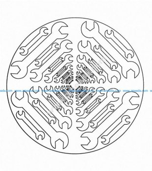 Mandala a colorier facile enfant 6