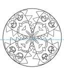 Mandala a colorier facile enfant 8