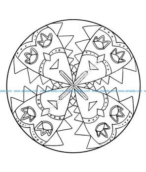 Mandala a colorier facile enfant 8