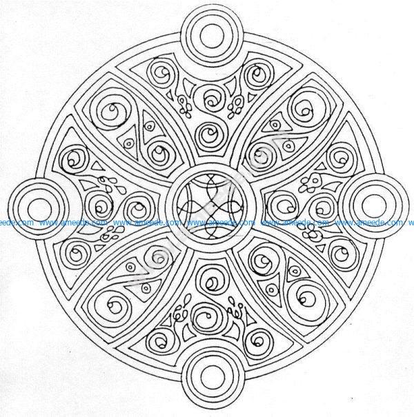 Mandala a colorier gratuit a imprimer 19