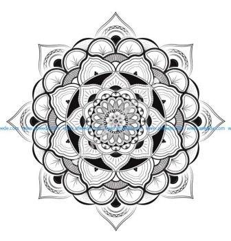 Mandala a colorier gratuit complexe par louise