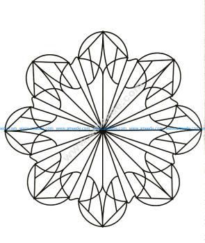 Mandala a colorier gratuit forme de fleur