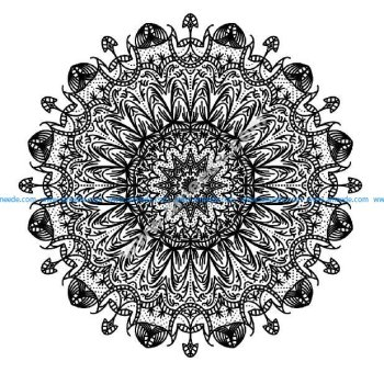 Mandala a colorier gratuit traits epais