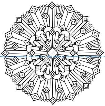 Mandala art deco simple