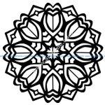 Mandala avec des Tulipes Style Art deco