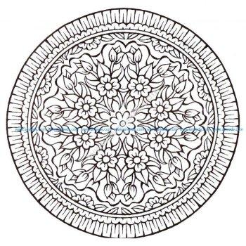 Mandala avec fleurs style Vintage