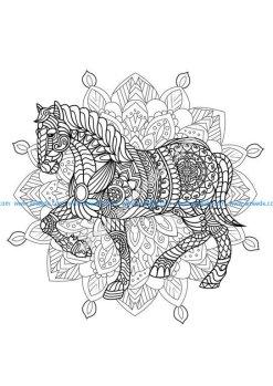 Mandala cheval 2