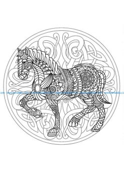 Mandala cheval 3