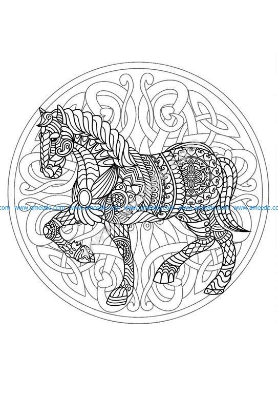 Mandala cheval 3 amee house - Mandala cheval ...