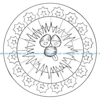 Mandala facile par domandala 16
