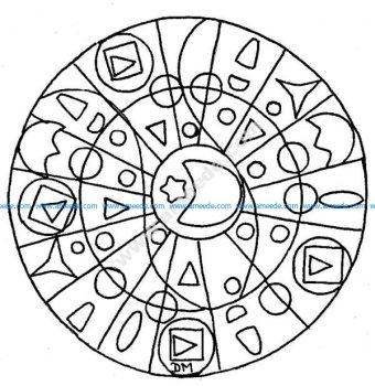 Mandala gratuit lune etoile