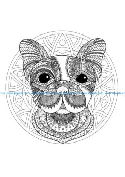 Mandala tete chien 1