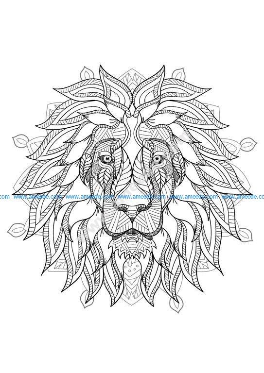 Mandala tete lion 2