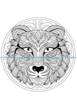 Mandala tete tigre 1