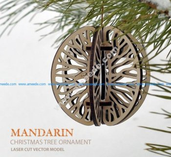 Mandarin. Christmas tree ornament