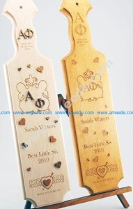 Sorority and Fraternity Paddle Engraving
