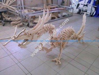 Wooden Dinosaur 3D Puzzle