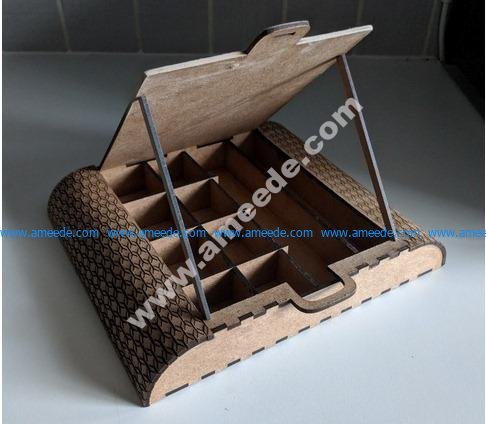 ANEW art storage and easel with lid management
