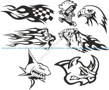 Car Decals Set