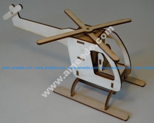 Helicóptero con motor