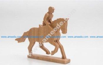 Horse & Rider 3-layered-animal