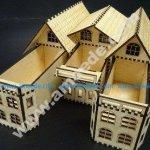 House Box wooden template wooden laser cut