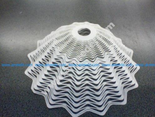 Lampshade from a lasercut paper sheet
