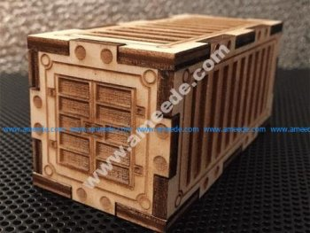 Laser Cut Container for Wargaming
