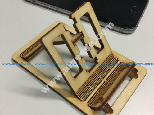 Laser cut living hinge phone stand
