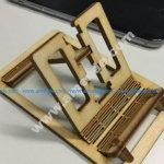 Laser cut living hinge phone stand