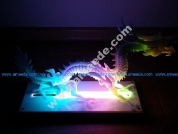 LaserCut - 3D puzzle dragon