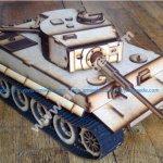 Lasercut Tiger E tank