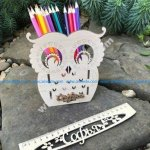 Owl Desk Organizer Pencil Holder