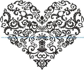 Shaped Heart Vector