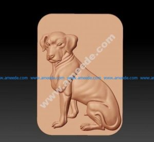 Stl file Vector model dog for CNC router free stl files