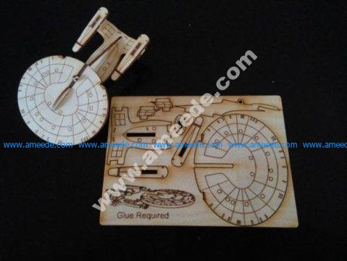 USS Enterprise Ornament Card